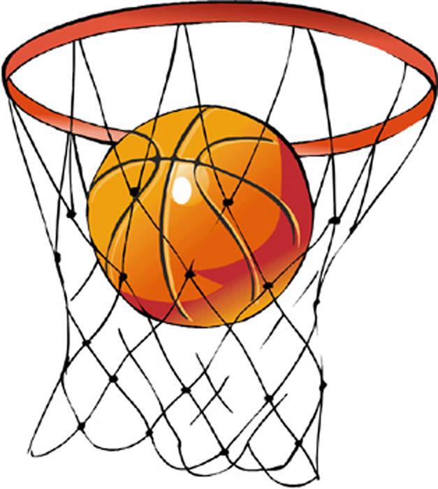 clipart basketball basketball goal