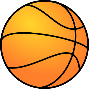Basketball clipart transparent background. Clip art library