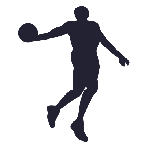 Basketball vector png. Player silhouette transparent svg
