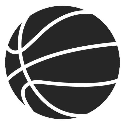 Ball icon silhouette transparent. Basketball vector png