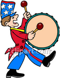 Bass clipart animated. Marching band drum player