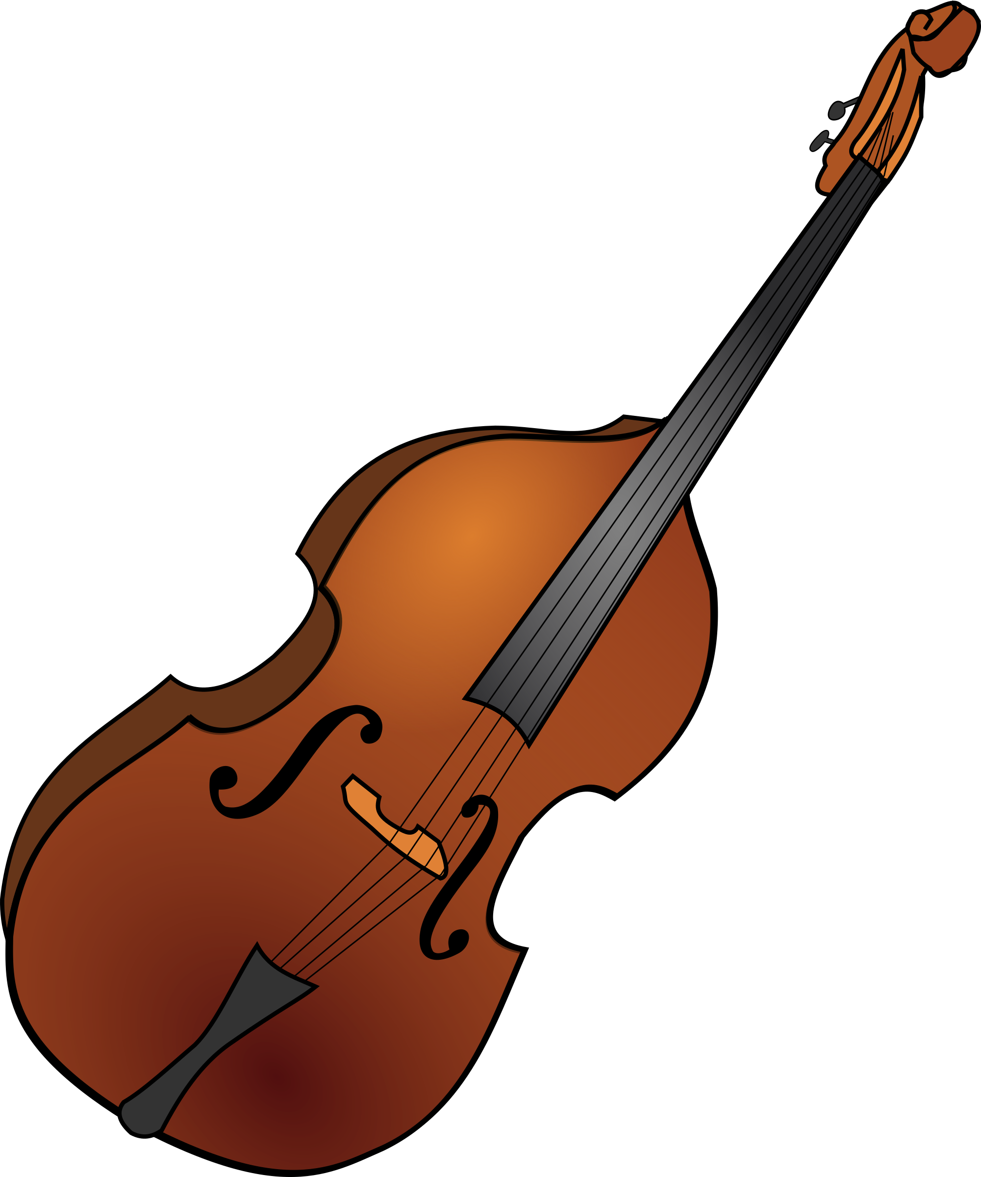 Double bass big image. Guitar clipart cartoon