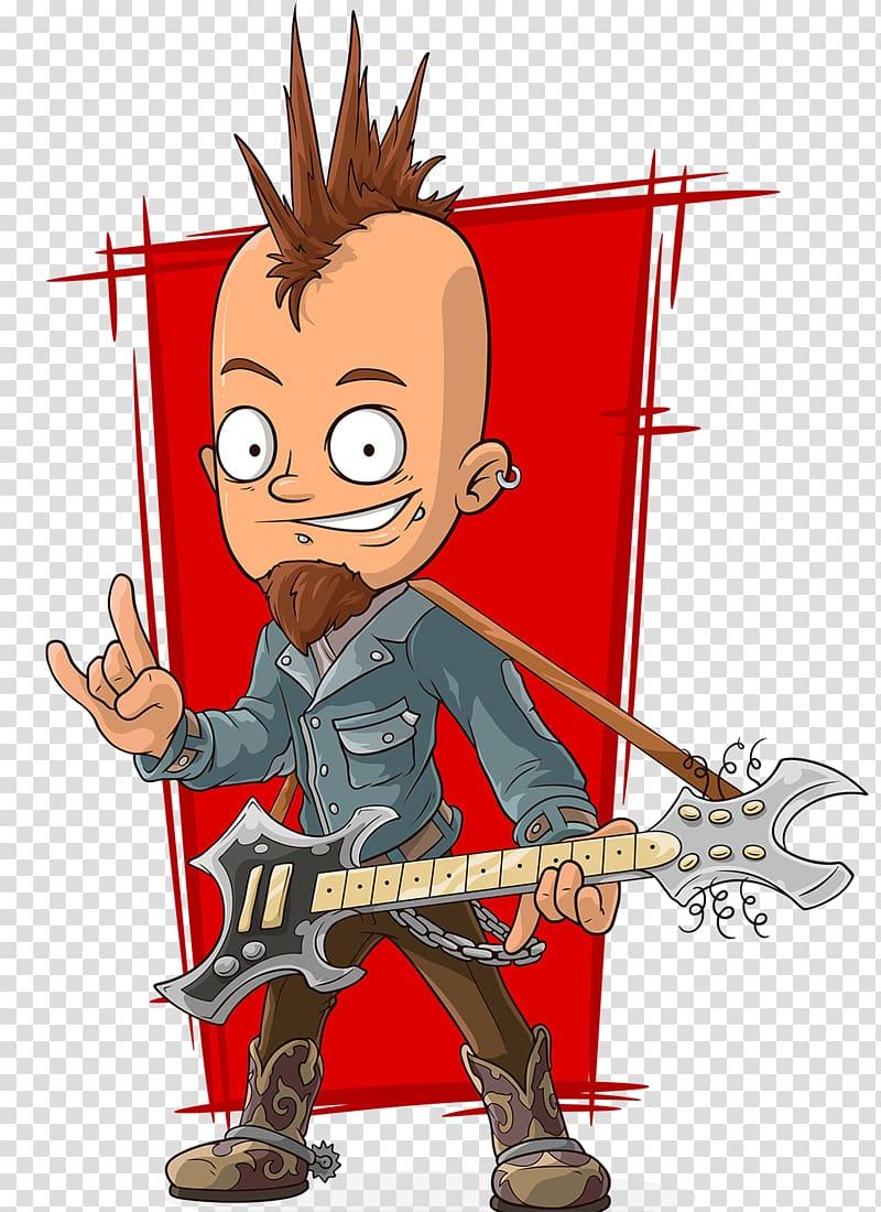 Bass clipart animated. Cartoon punk rock music
