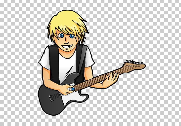 Guitar electric string instrument. Bass clipart animated