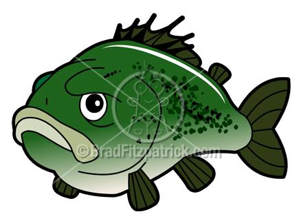 Cartoon . Bass clipart animated