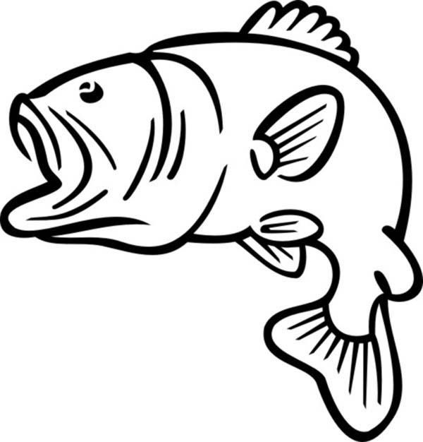 Silhouette at getdrawings com. Bass clipart bass fish
