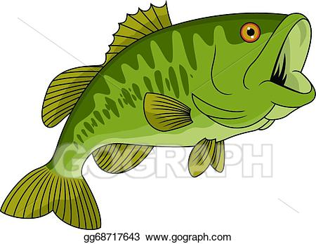 Vector illustration eps gg. Bass clipart bass fish