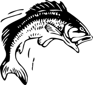 bass clipart black and white