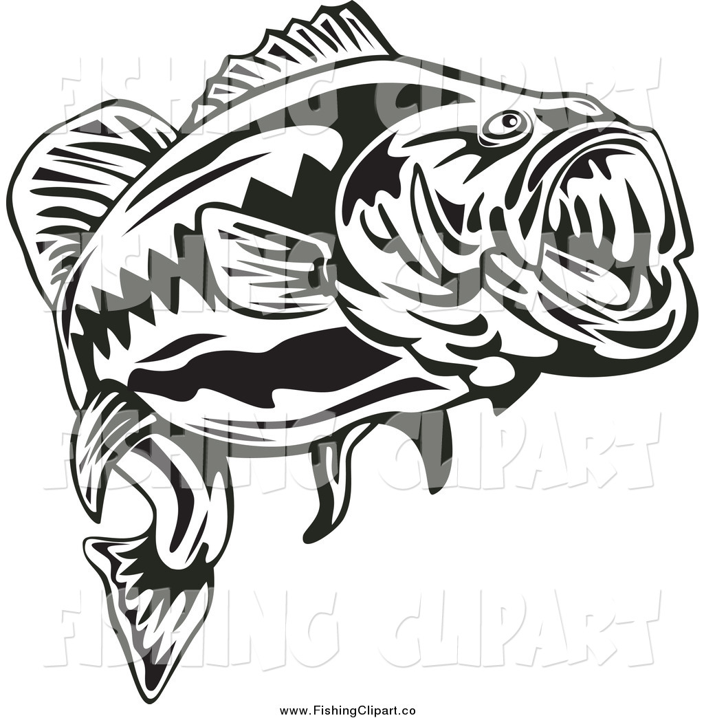 Trout clipart largemouth bass. Fish clip art black