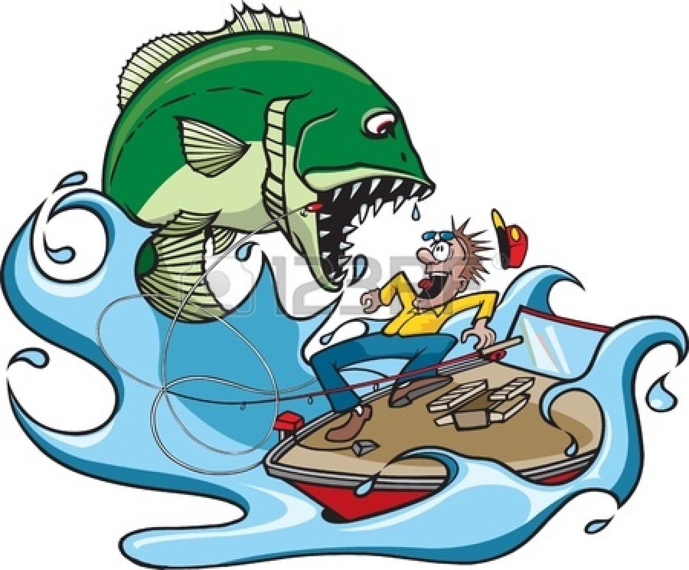Fish of a large. Bass clipart cartoon