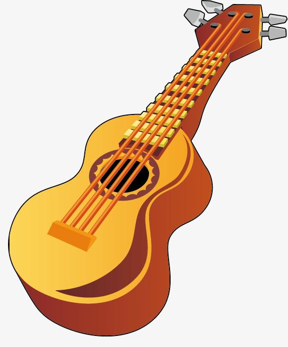 Yellow guitar png image. Bass clipart cartoon