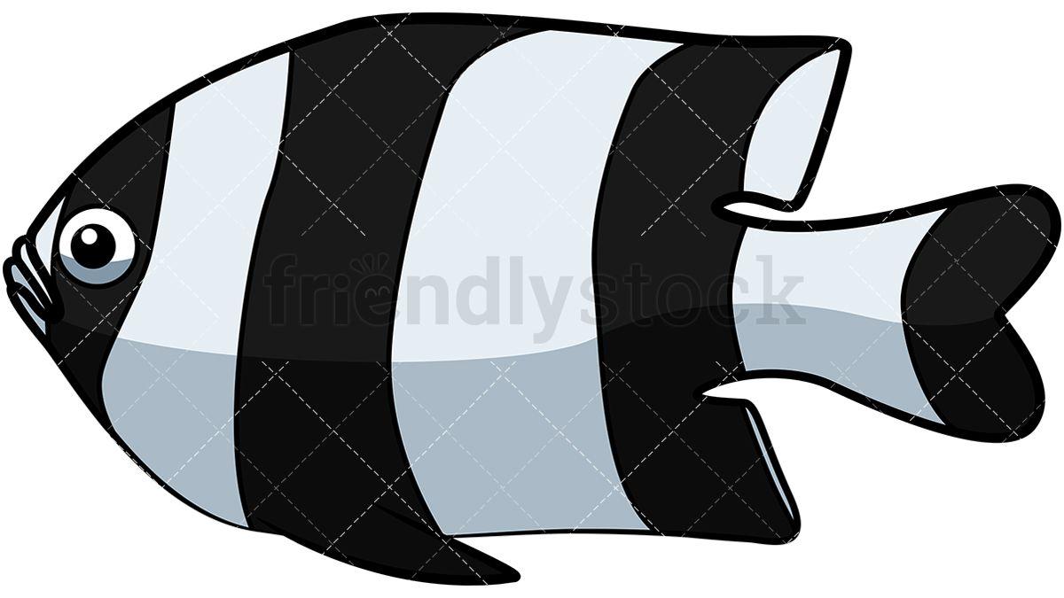 Striped vector friendlystock. Bass clipart cartoon