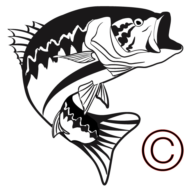 Fish free fishing image. Bass clipart cute