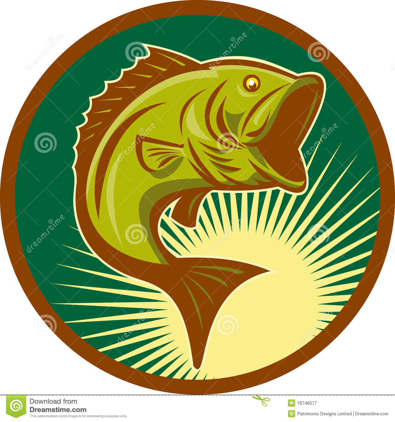 Bass clipart fishing competition. Leaping largemouth