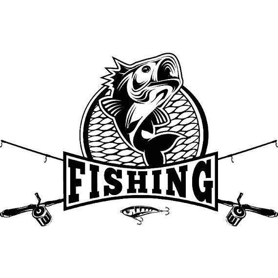 Bass clipart fishing competition. Logo angling fish hook