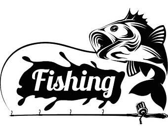 Hook clipart hunting. Bass fishing logo angling