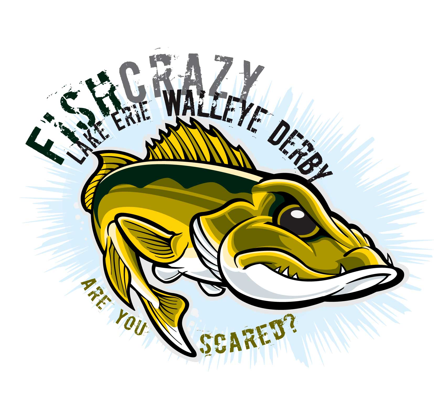 Fish crazy spring rock. Bass clipart fishing derby