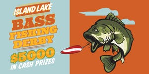 Bass clipart fishing derby.  island lake tickets