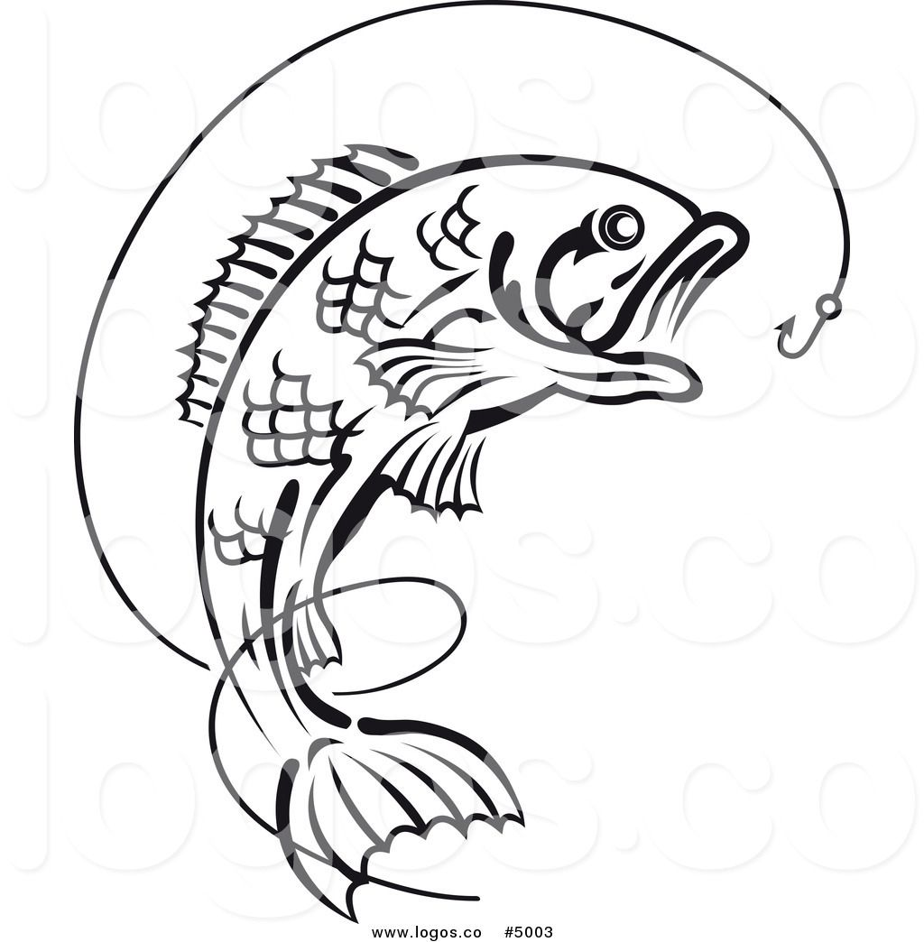 Best fish outline clipartion. Bass clipart fishing rod