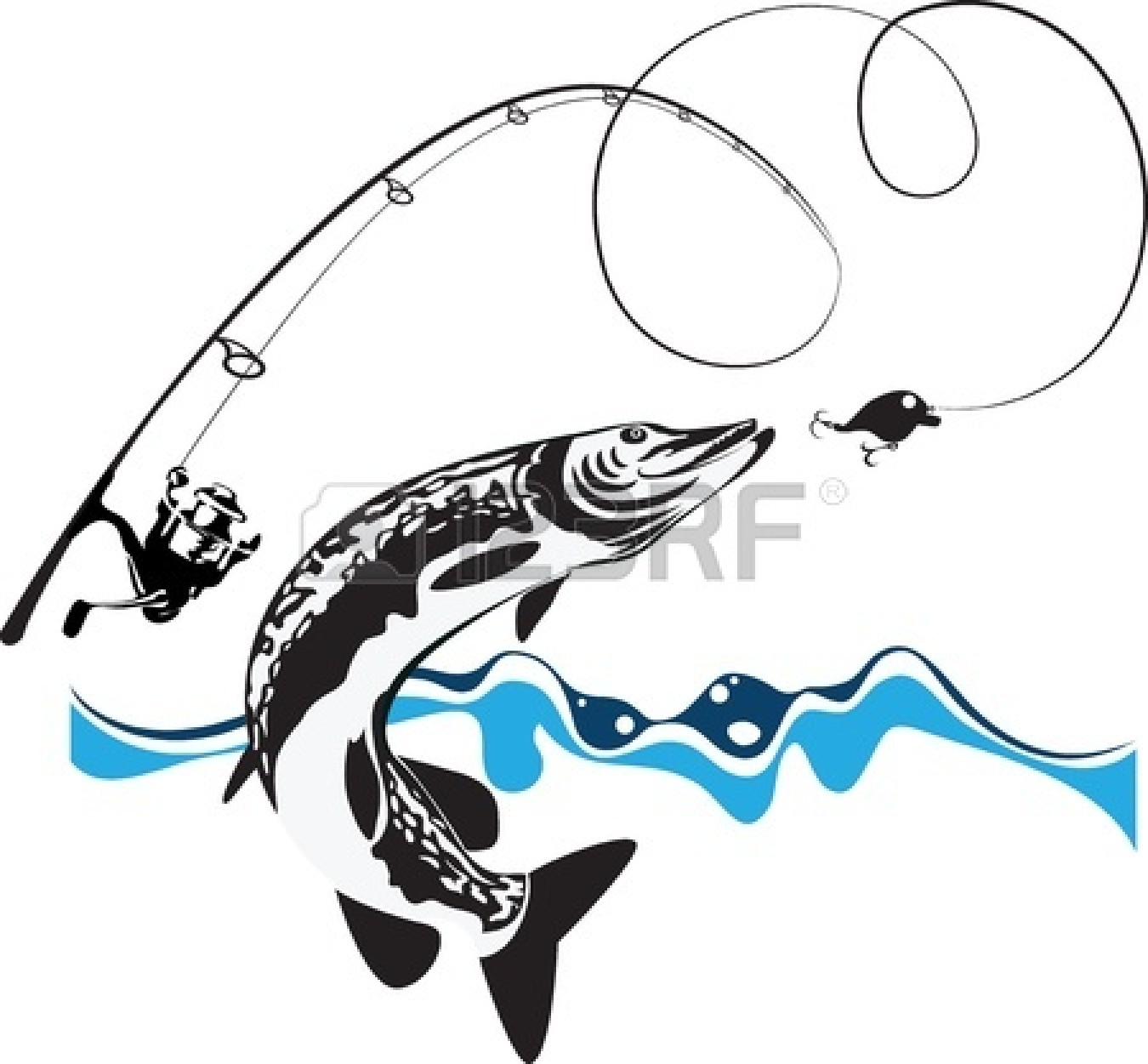 Silhouette at getdrawings com. Bass clipart fishing rod