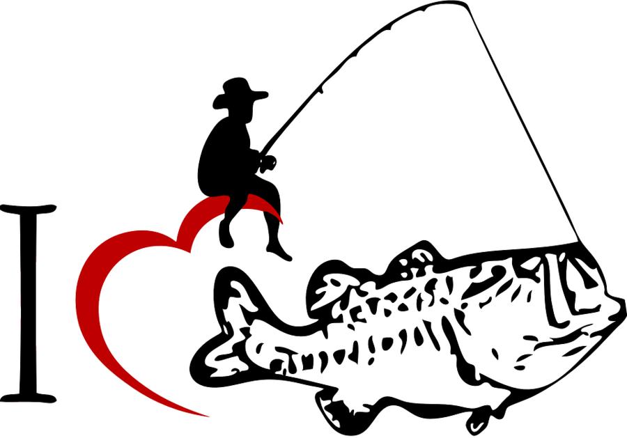 Cartoon white black transparent. Bass clipart fishing rod