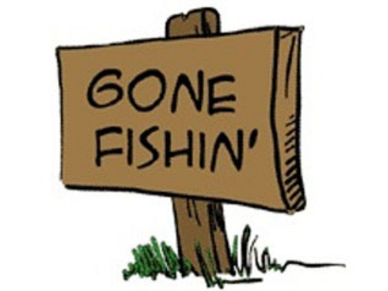 Bass clipart gone fishing. Fishin signs fish and