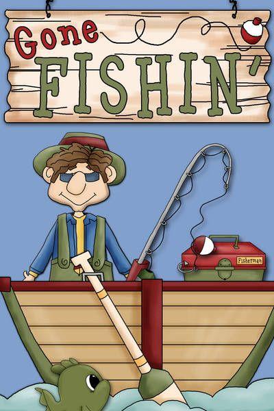 Bass clipart gone fishing. Card making world ideas