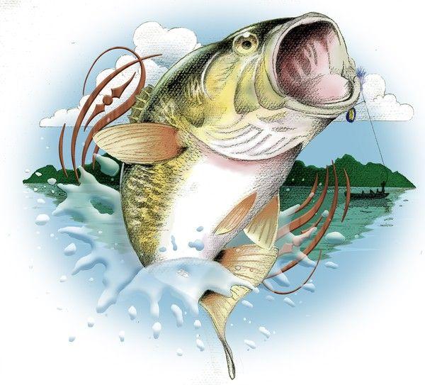 Clip art mark combs. Bass clipart gone fishing