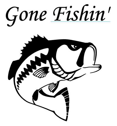 Bass clipart gone fishing. Website pinterest humor cricut