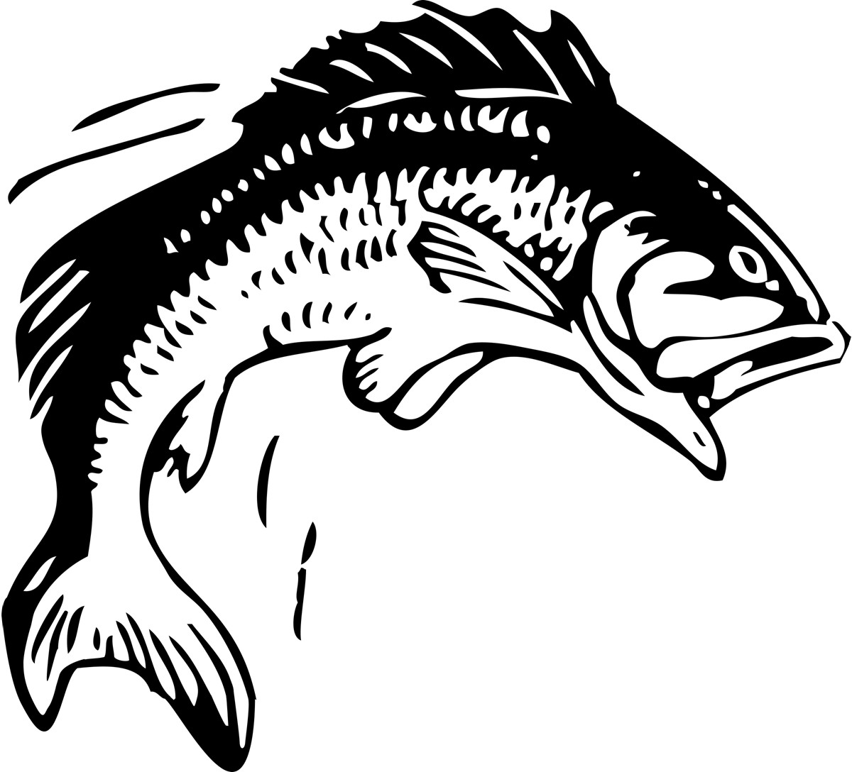 Fishing clipart fish. Clip art bass free