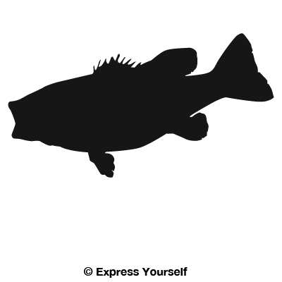 Fishing at getdrawings com. Bass clipart silhouette