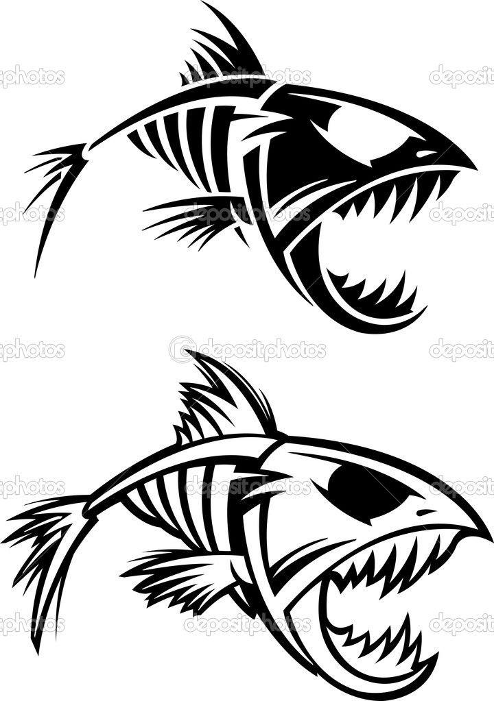 Download fish stock illustration. Catfish clipart skeleton