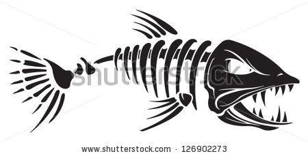 Fish free template pinterest. Catfish clipart skeleton