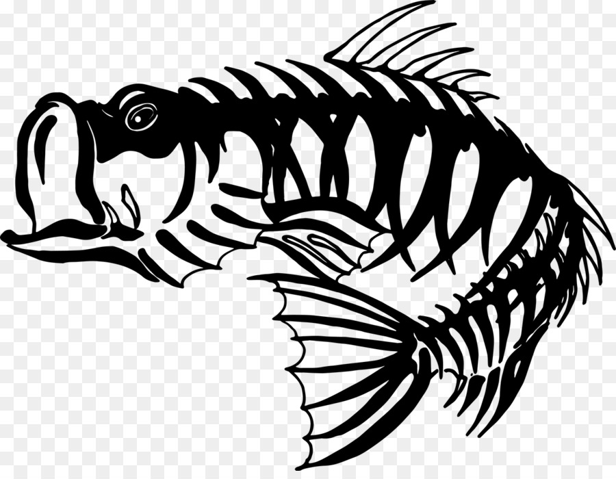 Bass clipart skeleton. Fishing clip art cliparts