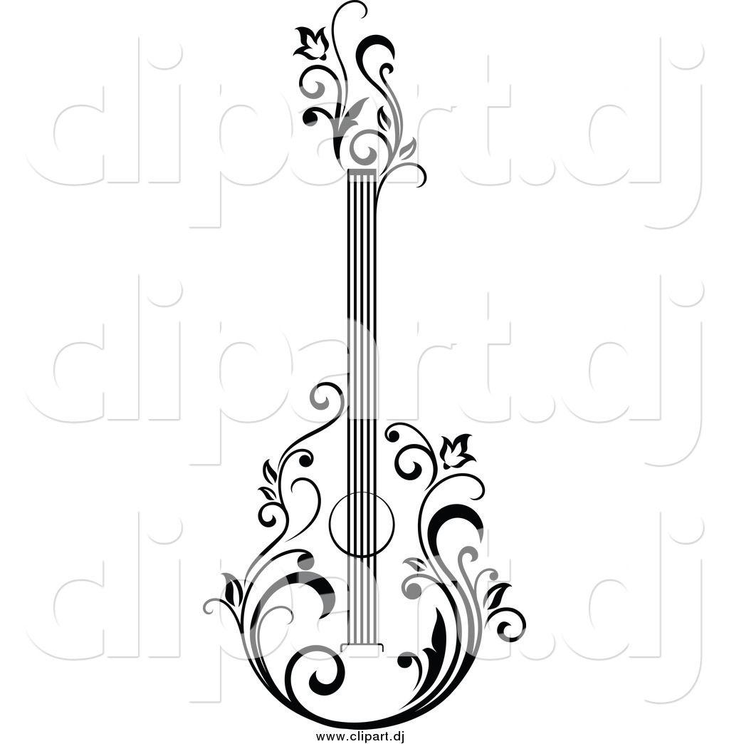 Bass clipart sketches. Guitar art sketch google