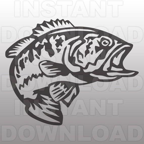 Bass clipart svg. Pin on craft ideas