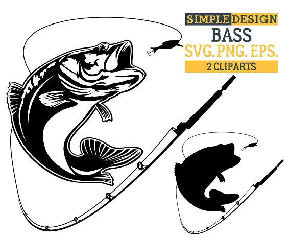 Bass clipart svg. Fishing fish