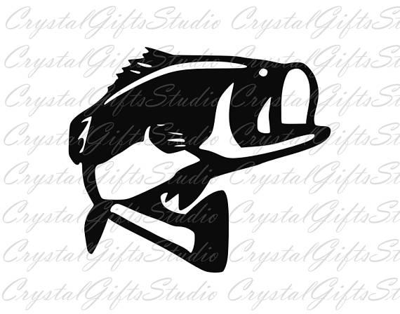 Fish fishing hunting fisherman. Bass clipart svg
