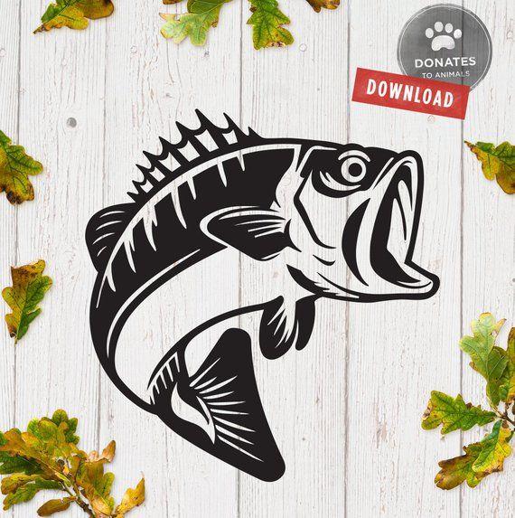 Bass clipart svg. Fishing fish sea cut