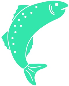 Free jumping fish clip. Trout clipart trout fisherman