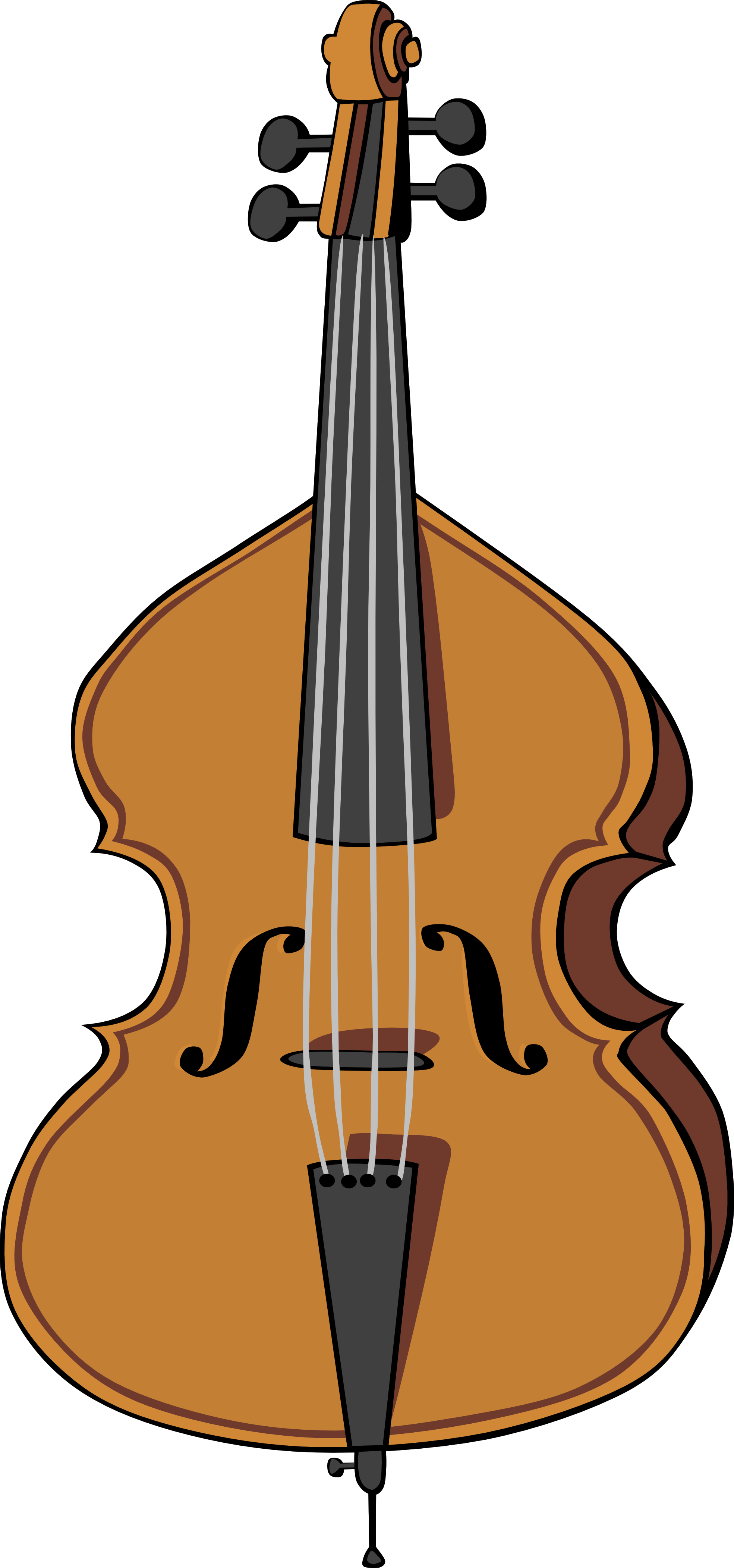 Upright bass . Cello clipart viola