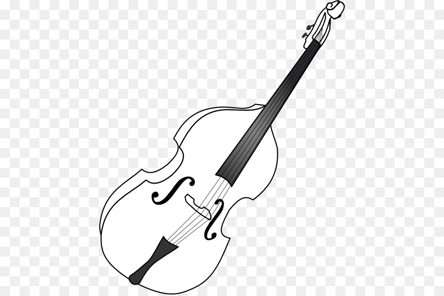 Double musical instruments guitar. Cello clipart string bass