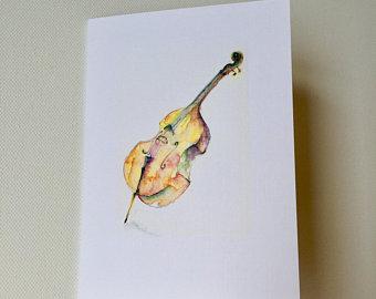 bass clipart watercolor