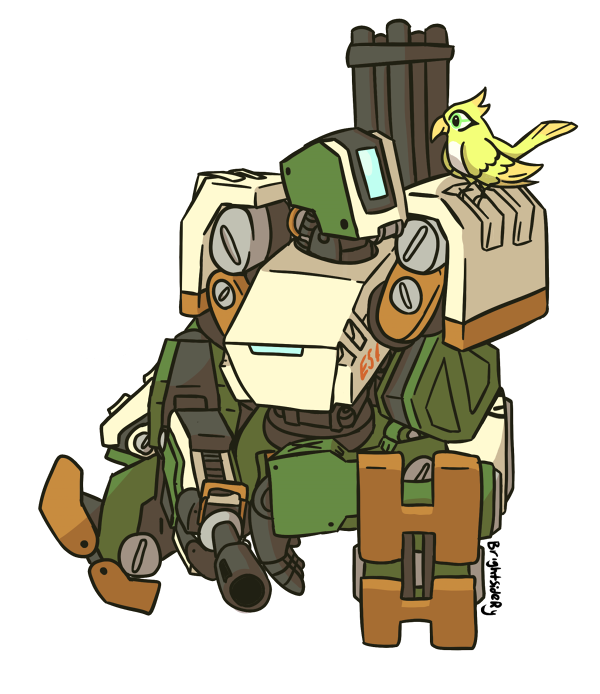 By brightsidery on deviantart. Bastion overwatch png