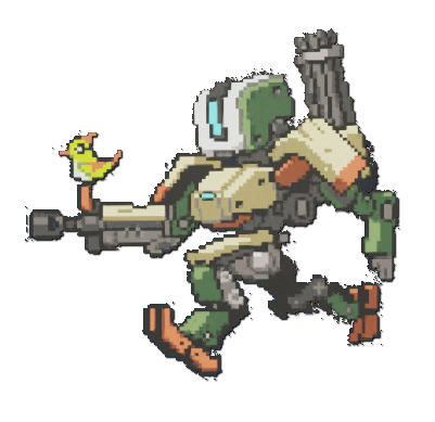 Bastion overwatch png. Image spray pixel wiki