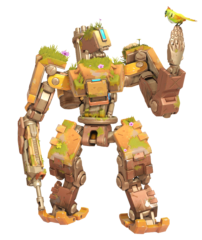 Overgrown skin render by. Bastion overwatch png