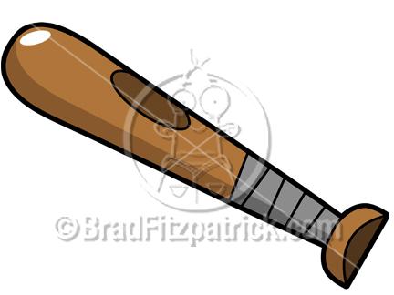 Bat clipart base. Cartoon baseball picture royalty