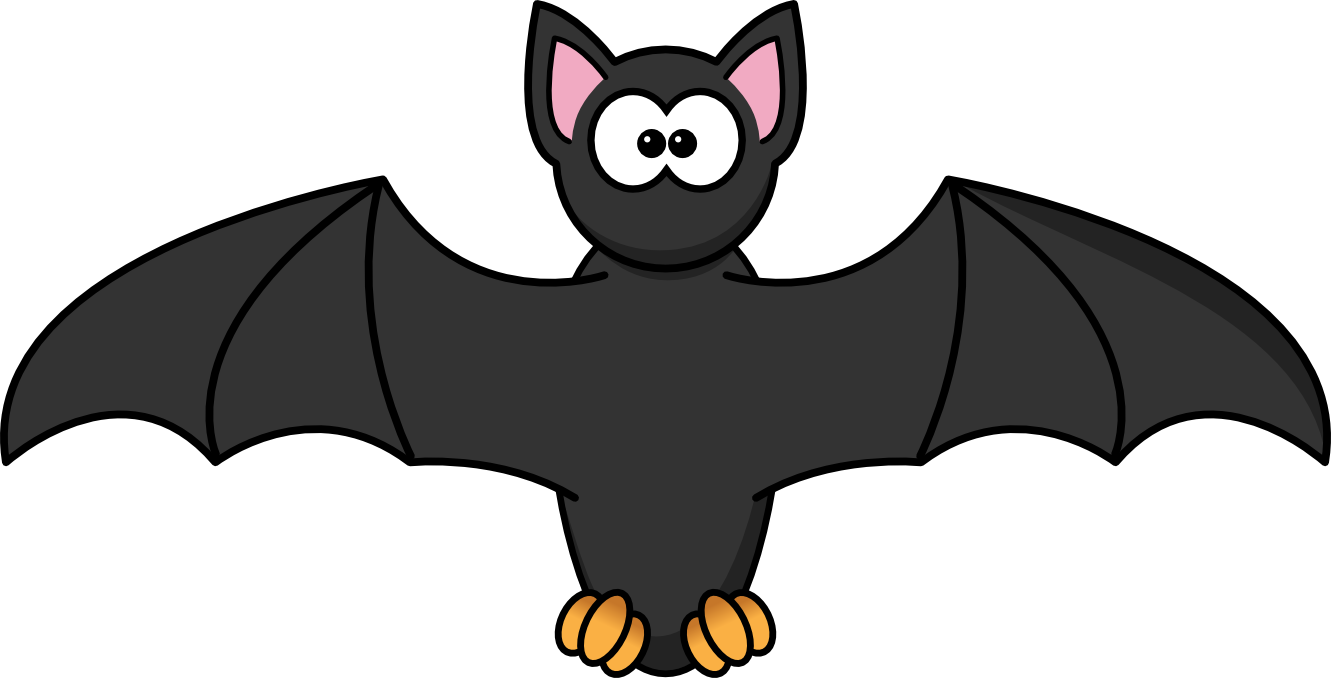 Clipart panda realistic cartoon. Hanging bat silhouette at