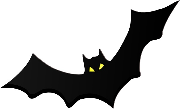 Pencil and in color. Bat clipart bird