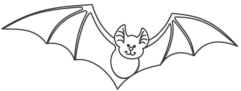 Station . Bat clipart black and white